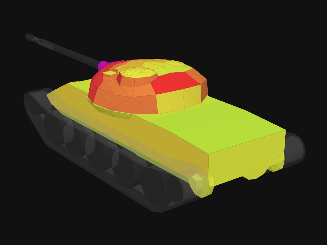 Rear armor of T-62A in World of Tanks: Blitz