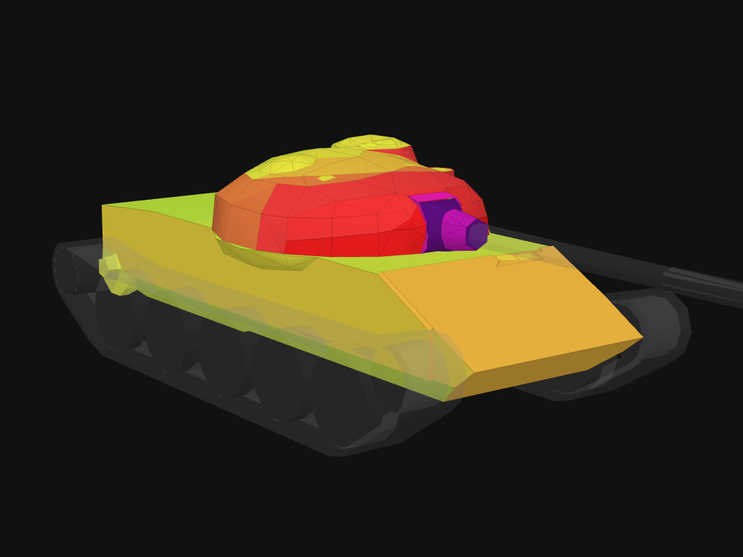 Front armor of T-62A in World of Tanks: Blitz