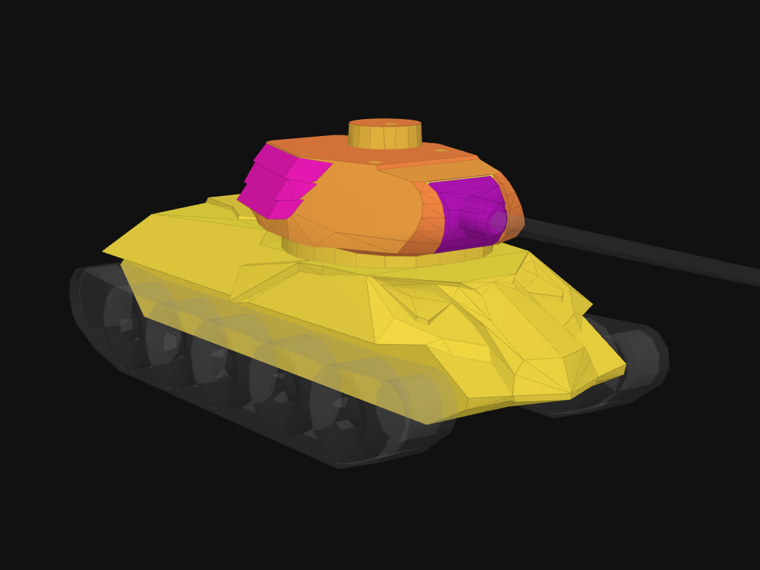 Front armor of Ox in World of Tanks: Blitz